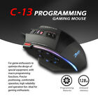 Zelotes Gaming Mouse 10000 DPI 13 Keys Programmable Buttons RGB LED Light Mice