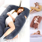 US Full Body Maternity Bed Pregnancy Pillow U Shape Comfortable Cotton Support image