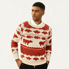 Mbbcar Vintage Nordic Lceland Style Sweater Raglan Sleeve Sweater Crew Neck Tops