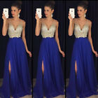 US STOCK Women Formal Gown Wedding Bridesmaid Evening Party Prom Cocktail Dress