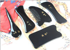 Scrapping Plate Acupuncture Massage Facial Body Tool Sets 天然水牛角5件套刮痧板组合 Bty15