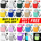For Apple AirPods 2&1 Silicone Case Protector Shockproof Full Cover + Keychain