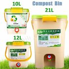 10-21L Recycle Composter Aerated Compost Bin Bokashi Bucket Kitchen Food  UK