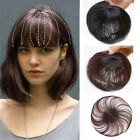 100% Human Toupee Clip In Topper Thin Hairpiece Short Top Hair Piece for Women