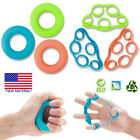 Hand Grip Strengthener Exerciser Rings & Finger Extensor Resistance Loop Bands image