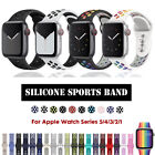 40/44mm 38/42mm Silicone iWatch Band Sports Strap for Apple Watch Series 5 4 3 2 image