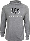 Zubaz NFL Football Men's Cincinnati Bengals Tonal Gray Lightweight Hoodie $34.99 USD on eBay