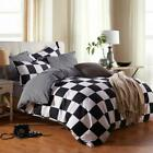 Nokolulu Buffalo Check Black And White Plaid Duvet Cover Set With Zipper Closure
