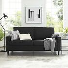Apartment Sofa Convertible Couch Comfortable Love seat Home Furniture Blue Black