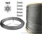 316 A4 Stainless steel wire rope cable 1mm 2mm 3mm 4mm 5mm 7x7 balustrade fence