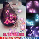 1.5-4m Led Heart Fairy String Lights Wedding Party Christmas Home Decor Indoor