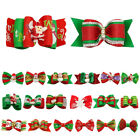 20/100pcs Christmas Dog Hair Bows with Rubber Band Pet Cat Xmas Grooming Topknot