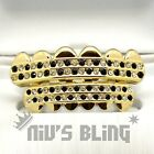 Bling Out Iced 14k Gold GRILLZ Checkered CZ Tooth Mouth Teeth Cap Hip Hop Grills