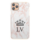 Initial Phone Case Personalised Grey/Pink Marble Hard Cover For Apple iPhone 11