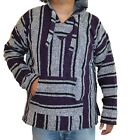 XL Baja Hoodie Hippie Surfer Mexican Poncho Sweater Drug Rug Assorted Colors