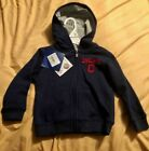 CLEVELAND INDIANS TODDLER EMBROIDERED FULL ZIPPERED NAVY POCKETED HOODIE NWT on Ebay