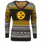 FOCO NFL Women's Pittsburgh Steelers Big Logo Aztec V-Neck Sweater $39.99 USD on eBay