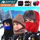 Kids Winter Hat Balaclava Trapper Face Mask Scarf Fr Boys Girls Sport Xmas Gifts