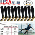 5 Pairs Copper Compression Socks 20-30mmHg Graduated Support Mens Womens S/M-XXL
