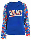 Zubaz NFL Women's New York Giants Cowl Neck Hoodie, Blue $34.95 USD on eBay