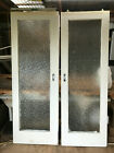 old timber red pine twin doors glass panel excell cond 2.020 Hx 700x 35mm th