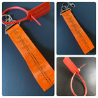Off White Belt Keychain Bright Orange color w/ Tag option