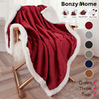Kyпить Sherpa Flannel Fleece Throw Soft Fur Blanket Soft Plush Warm Thickened Blankets на еВаy.соm