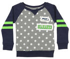 Outerstuff NFL Little Girls Seattle Seahawks Logo Polka Dot Long Sleeve Crew $24.95 USD on eBay
