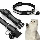 Adjustable Reflective Breakaway Nylon Cat Safety Collar with Bell for Cat Kitten