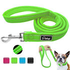 4ft Reflective Nylon Dog Walking Lead Leash with Comfort Plush Padded Handle S M