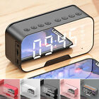 LED Mirror Digital Wireless bluetooth Speakers Alarm Clock MP3 FM Radio