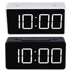 Digital LED Large Display Alarm Clock Travel USB/Battery Operated Mirror Face US