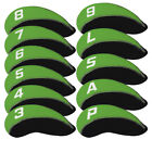 11Pcs Iron Club Protector Golf Head Covers with 3-9 P/A/S/Lw Number Tag Neoprene