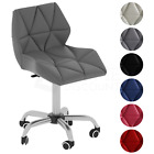 'Computer Office Chair Cushioned Home Swivel Leather Chrome Small Adjustable Desk