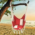 Rope Chairs w/Cushion Canvas Chair Hammock Net Seat Camping Hanging Chair Swing