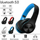 Foldable Bluetooth Wireless Over-Ear Stereo Headphones Sports Headset Microphone