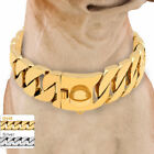 Extra Heavy Gold Dog Choke Chain Collar Thick Large Training Stainless Steel 22""