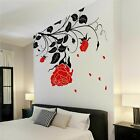 Flower Wall Stickers Rose Vinyl Wall Decals Floral Wall Art Stickers Graphics