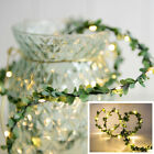 30-100 Leds Garland Fairy Lights Copper Green Leaf Christmas Wedding Home Decor