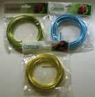 Oasis 6 Gauge Mega Wire 9.5 ft. Rolls Turquoise, Apple Green  Yellow NEW In Pkg