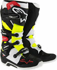 NEW ALPINESTARS TECH 7 MOTOCROSS BOOTS BLACK RED YELLOW OFF ROAD MX...