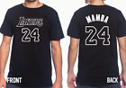 Kobe 24 Jersey Basketball T-SHIRT NUMBER Tee front and back print SIZE Y-5XL  image