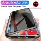 360° Magnetic Adsorption Anti Spy Double Tempered Glass Phone Case For iPhone $12.98 USD on eBay