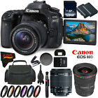 Canon EOS 80D DSLR Camera + 18-55mm Lens + Canon EF 17-40mm f/4L USM Lens +d (In
