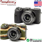 easyCover Protective Silicon Skin - Camera Cover for Sony A6600 Black Camo