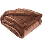 Sherpa Flannel Fleece Reversible Blanket Extra Soft Fabric Bedding Twin Size  image