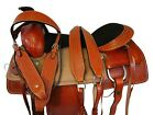 USED RANCH SADDLE ROPING HORSE CUSTOM MADE LEATHER 16 17 TOOLED PLEASURE TACK