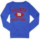 NFL Football Youth Girls New York Giants Long Sleeve Standard Shirt - Blue $12.99 USD on eBay