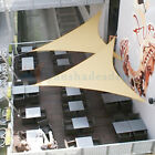 """Right Triangle Sun Shade Sail Beige Permeable UV Patio Outdoor Top 8 to 24"""" KIT8"""