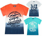 Boys T-shirt Cotton Ombre Tie Dye Short Sleeve T shirt Top New Age 2 - 13 Years
